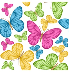 seamless background bright colorful butterflie vector image