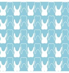 seamless teeth pattern vector image