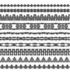 Set black borders vector