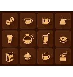 Set of coffee icon vector