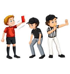 set referee character vector image