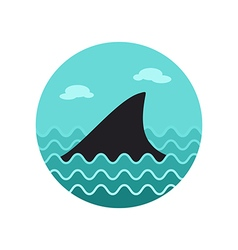 Shark fin icon Summer Vacation vector image