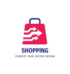 Shopping - abstract logo template concept vector