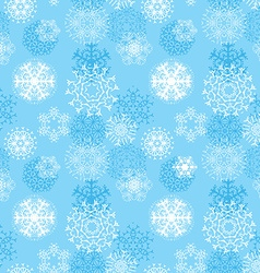 snowflakes seamless pattern various designs vector image