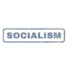 Socialism textile stamp vector