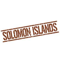 Solomon islands brown square stamp vector