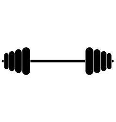 sports equipment fitness barbell muscle lifting vector image