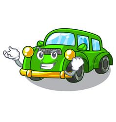 successful miniature classic car in shape vector image