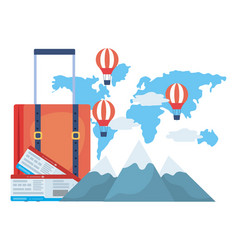 suitcase and travel design vector image