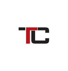 tc letter logo vector image