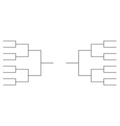 Tournament bracket templates vector
