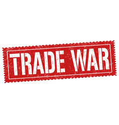 trade war sign or stamp vector image