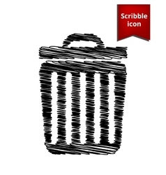 Trash icon Scribble icon for you design vector image