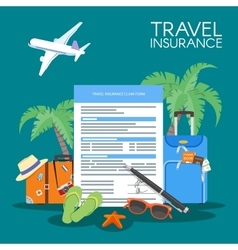 Travel insurance form concept vector image