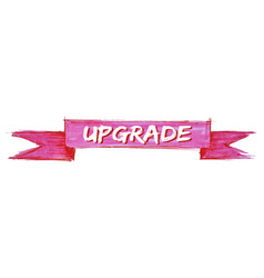Upgrade ribbon vector