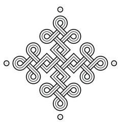 viking decorative knot - squares ring edges dot vector image