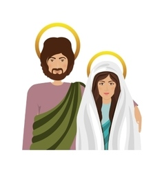 Virgin mary and saint joseph vector