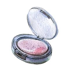 Watercolor pink blush vector