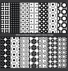 white and black flower pattern image vector image vector image