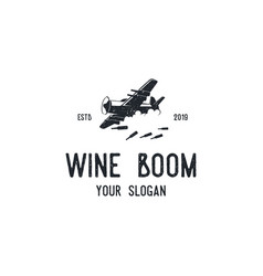 Wine boom logo vector