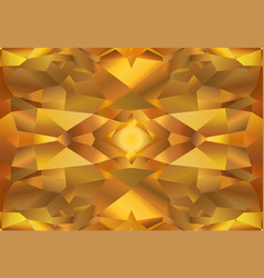 yellow polygonal background vector image