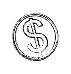 Isolated coin symbol vector