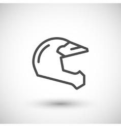 Motocross motorcycle helmet line icon vector image vector image
