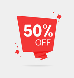 special offer sale red tag 50 off isolated vector image