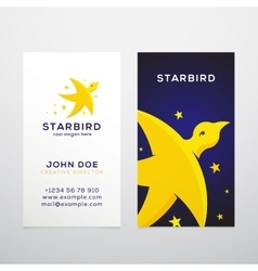Star Bird Abstract Business Card Template vector image vector image