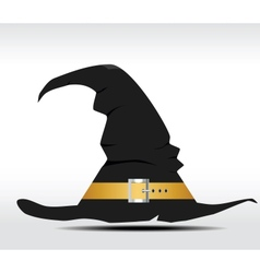 Tall witch hat on abstract background vector