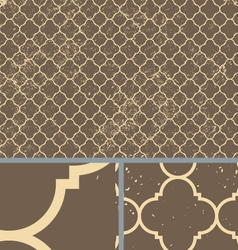 Vintage Brown Worn Seamless Pattern Background vector image vector image