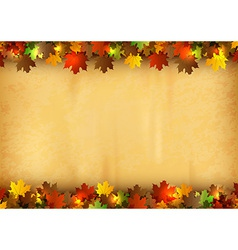 background autumn old paper vector image