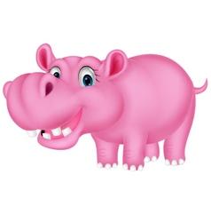 Cute hippo cartoon vector image