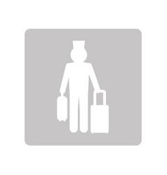 Pictogram man hotel vector