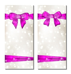 Set of cute cards with gift bows vector image