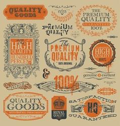 Vintage emblems and labels vector