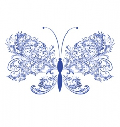abstract floral butterfly vector image vector image