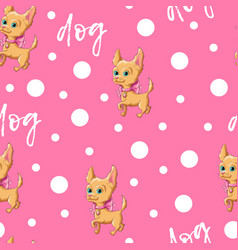seamless pattern kid s cute dog vector image vector image