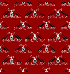 seamless pattern with a spider on halloween vector image vector image