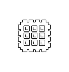 waffle line icon sign on vector image