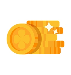 flat style of gold coin vector image vector image