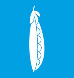 fresh peas icon white vector image vector image