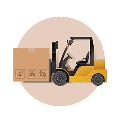 Loaner and a box vector image vector image