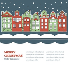 Old town decorated for Christmas vector image