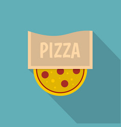 pizza emblem for pizzeria icon flat style vector image vector image