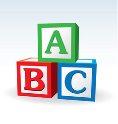 Abc letter blocks vector