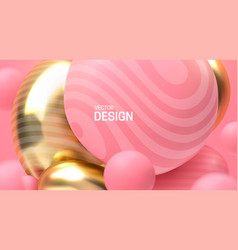 abstract background with dynamic 3d spheres vector image