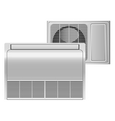 Air conditioner mockup realistic style vector