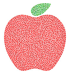apple composition of dots vector image