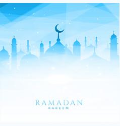 Beautiful mosque for ramadan kareem vector
